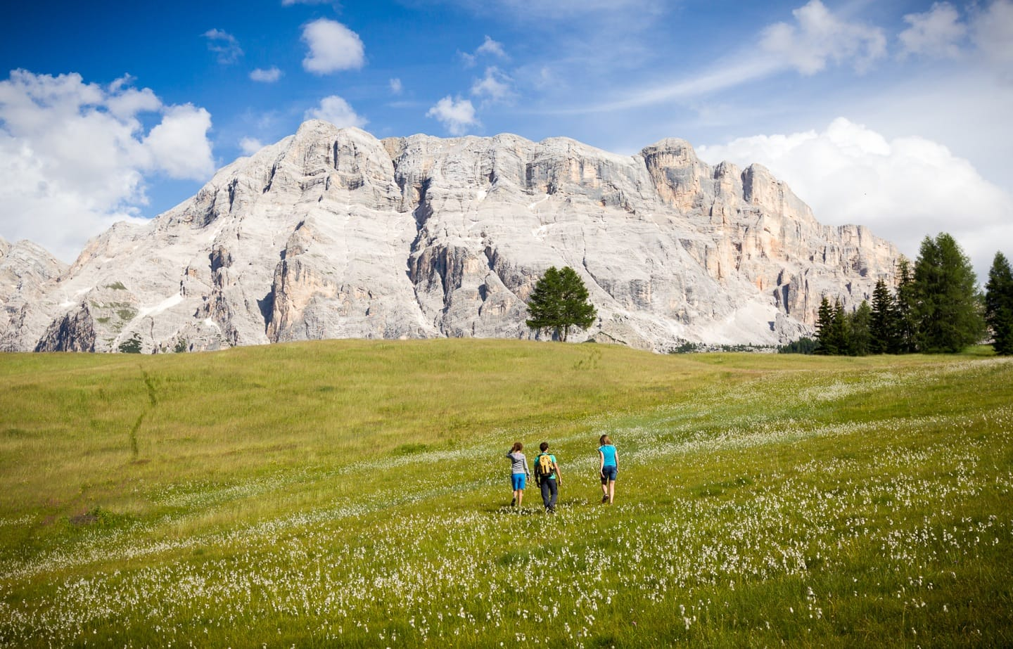 Trekking in the direction of the Cir peaks in Alta Badia.